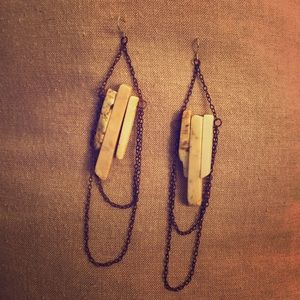 Natural stone earrings/ for your remake, parts